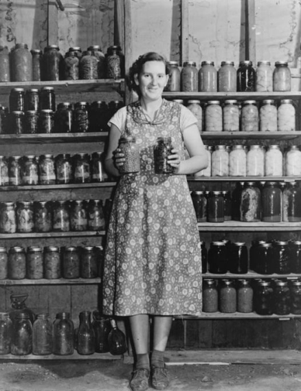 canning, home canning, home preserving, depression era canning, full pantry, frugality