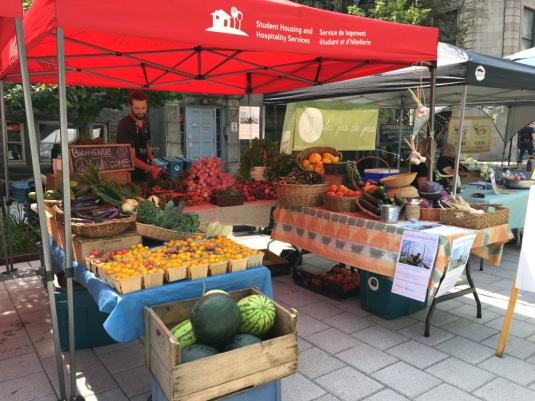 McGill Farmers Market, farmers market, market stall, farmers market stall, McGill, McGill University