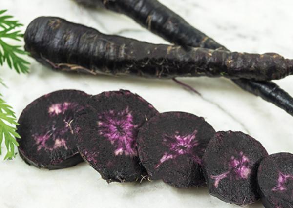 black nebula carrots, black carrots, gothic carrots